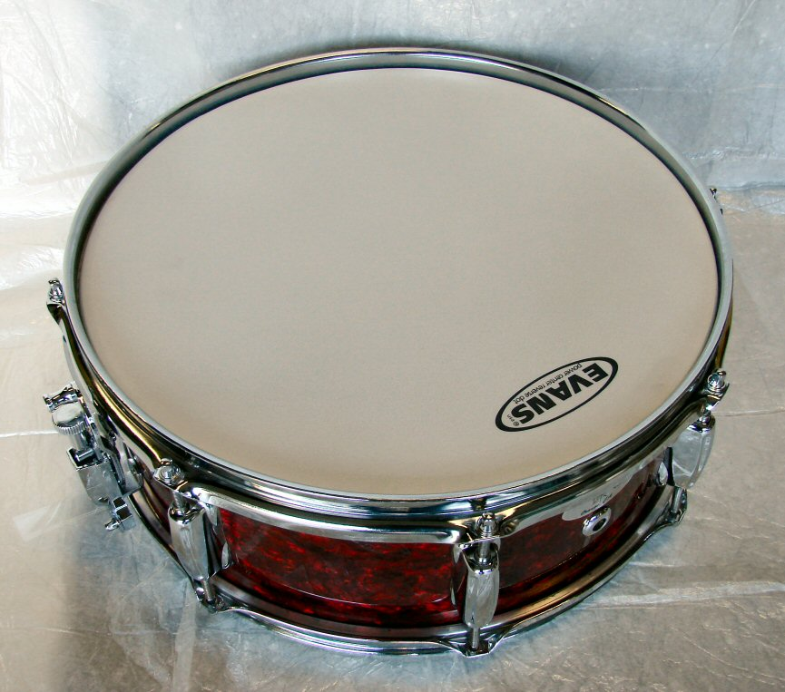 14&#34;X5&#34; 10ply Hi Gloss Ruby Red Pearl Snare Drum
